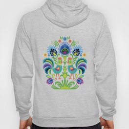 Polish Folk Design Two Roosters Hoody