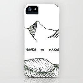 Mauka to Makai iPhone Case