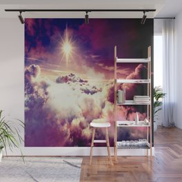 Mystic clouds. Mauve Wall Mural