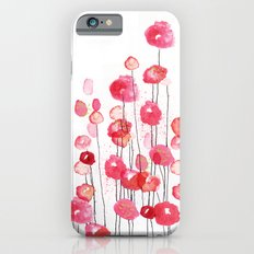 Poppies in Pink Slim Case iPhone 6s