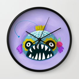 Day of the Dead Angler Fish Wall Clock