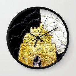 Fairy tale castle in yellow Wall Clock