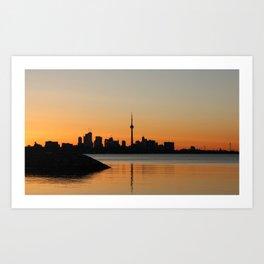 Toronto Sunrise Art Print