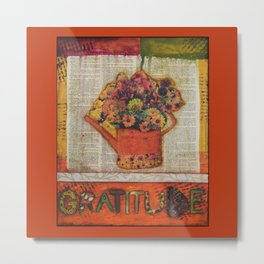 An Autumn Attitude of Gratitude Metal Print
