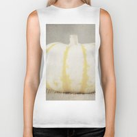 striped Biker Tanks featuring Striped  Pumpkin by Pure Nature Photos