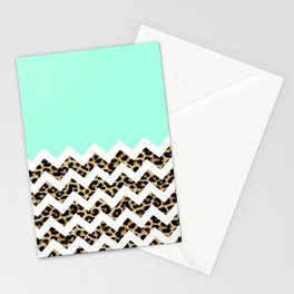 leopard chevron Stationery Cards