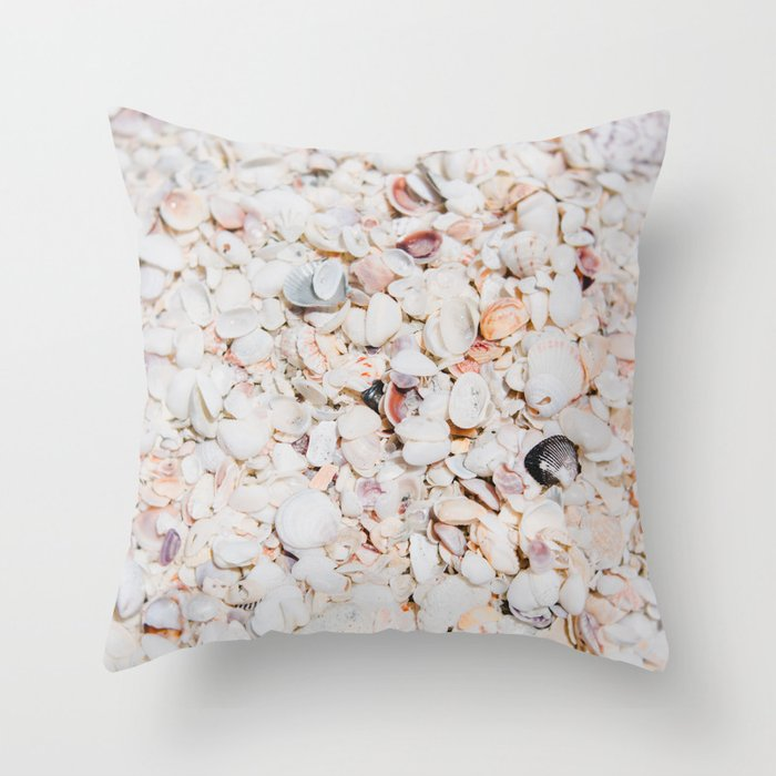 Seashells of Sanibel Throw Pillow