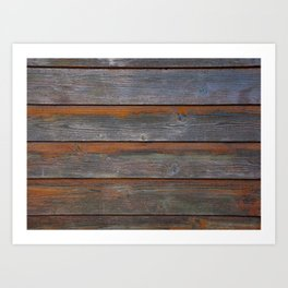 Rustic Wood Panel Boards Aged in Wyoming Art Print