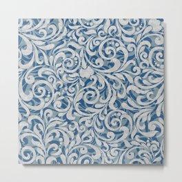 Scroll Pattern Metal Print