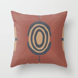 African style abstract pattern Throw Pillow
