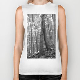 Old love, black and white photography trees Biker Tank