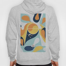 Basketball Playground | Bold Colors Abstract  Hoody