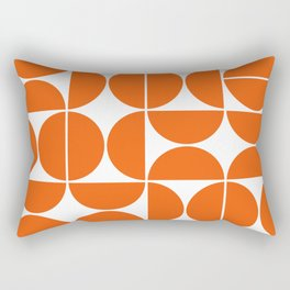 Mid Century Modern Geometric 04 Orange Rectangular Pillow