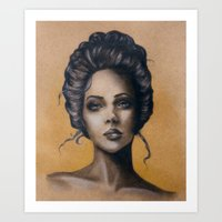 victorian Art Prints featuring Victorian by E.Inez Art
