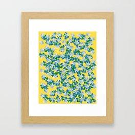 Summer Flowers Yellow Framed Art Print