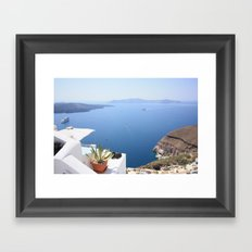 Love Santorini Framed Art Print