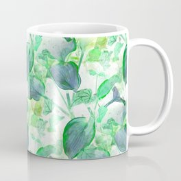 Hosta and English Ivy - Seamless - Inverted Art Coffee Mug