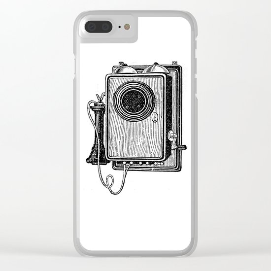 Old telephone 2 Clear iPhone Case