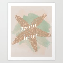 Ocean Lover Art Print