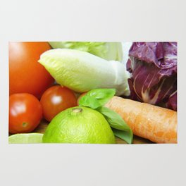Fresh Vegetables - Restaurant or Kitchen Decor Rug