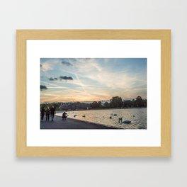 A slow summer sunset at Hyde Park Framed Art Print