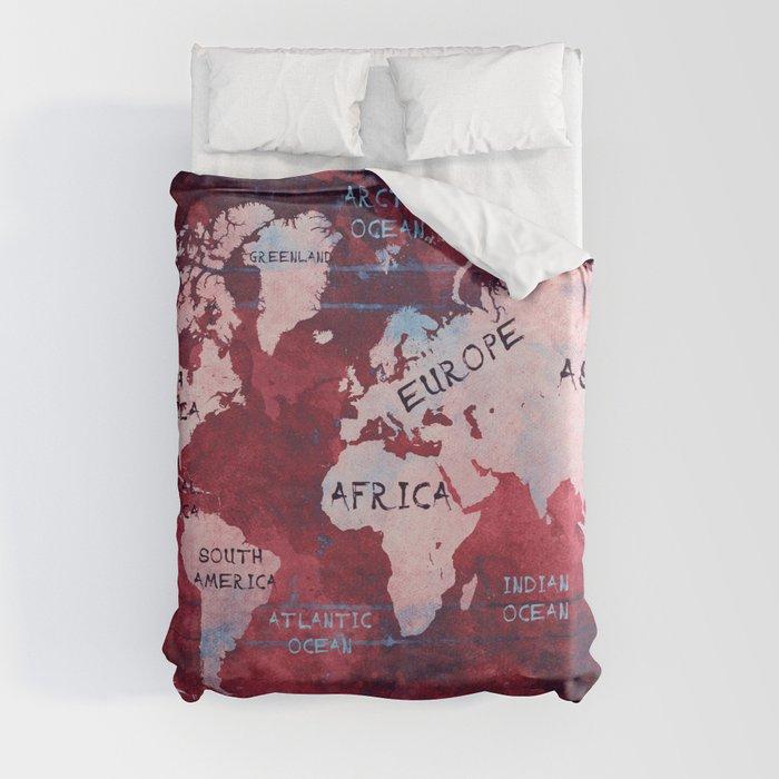 world map 16 Duvet Cover
