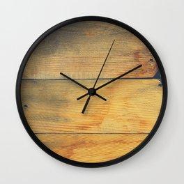 Wood Planks Shipboard Wall Clock
