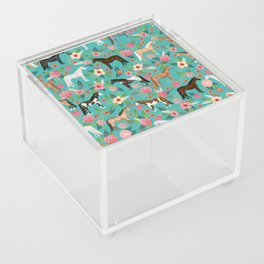 Horses floral horse breeds farm animal pets Acrylic Box