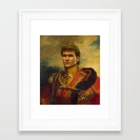 replaceface Framed Art Prints featuring Patrick Swayze - replaceface by replaceface