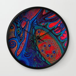 Cosmic Flora Wall Clock