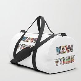 New York (typography) Duffle Bag