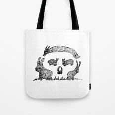 Bunny Skull Tote Bag