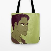 michael scott Tote Bags featuring Scott by The Art of Nicole