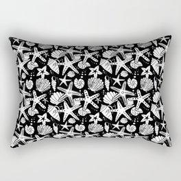 Seashells and Starfish Rectangular Pillow