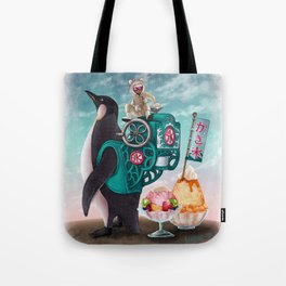 Penguin Shaved Ice Tote Bag