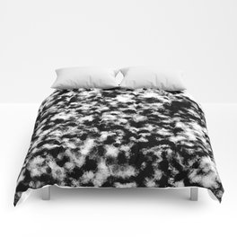 Dusty Black And White - Abstract painting Comforters