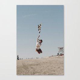 The Race of Gentlemen Flag Girl Canvas Print