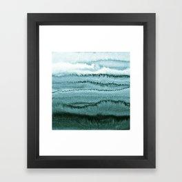 WITHIN THE TIDES - OCEAN TEAL Framed Art Print