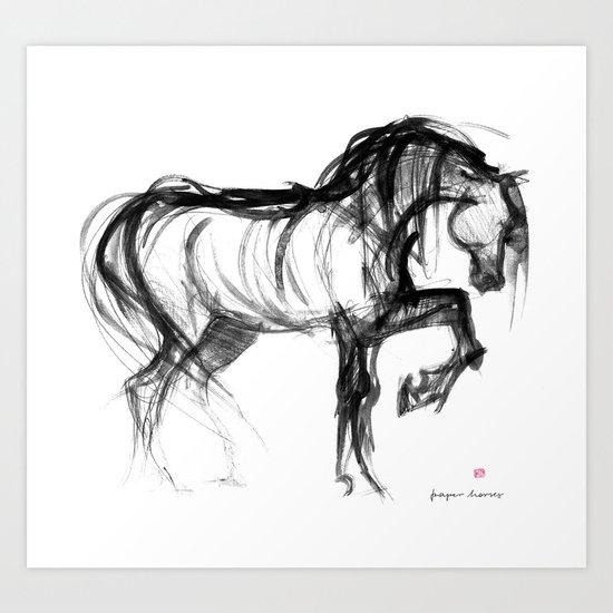 Horse (Saklavi) Art Print