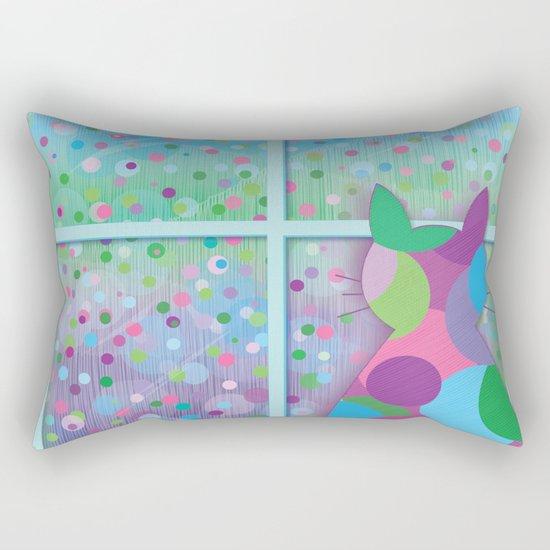 Beautiful Rainy Day Rectangular Pillow