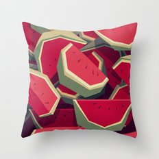 Too many watermelons Throw Pillow