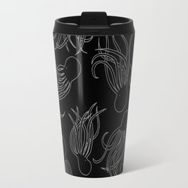 Squids (Grey on Black) Travel Mug