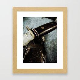 Old Hunting Knife Framed Art Print