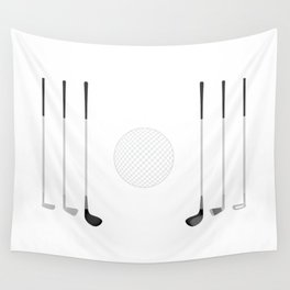 Golf Clubs and Ball Wall Tapestry