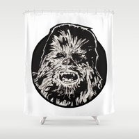 chewbacca Shower Curtains featuring Chewbacca by LaurenNoakes