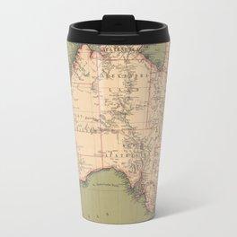 Vintage Australian Topography Map (1888) Travel Mug