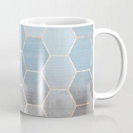 honeycomb winter forest // copper & blue Coffee Mug