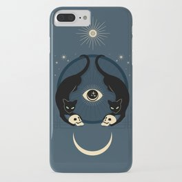 Midnight Cats Doing Their Dark Business iPhone Case