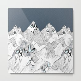 At night in the mountains Metal Print