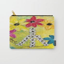 Peace & Love Carry-All Pouch